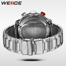 Brand Men Sports Watches Dual Display Full Steel Digital LED Electronic Quartz Watch Waterproof Military Watch Hombre Reloj