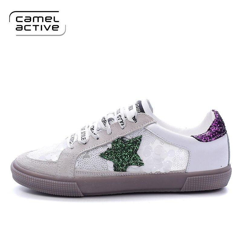 Cuir Vintage Chaussures Fille blanc À Blanc La pu Mode Femmes Appartements Marque Occasionnels Gris Respirant Camel Mesh Designer Active En Main De 8HqZZt