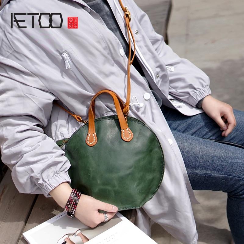 AETOO Lady Leather handmade fashion handbag, tanning cowhide retro color making old shell bag, female crossbody bagAETOO Lady Leather handmade fashion handbag, tanning cowhide retro color making old shell bag, female crossbody bag