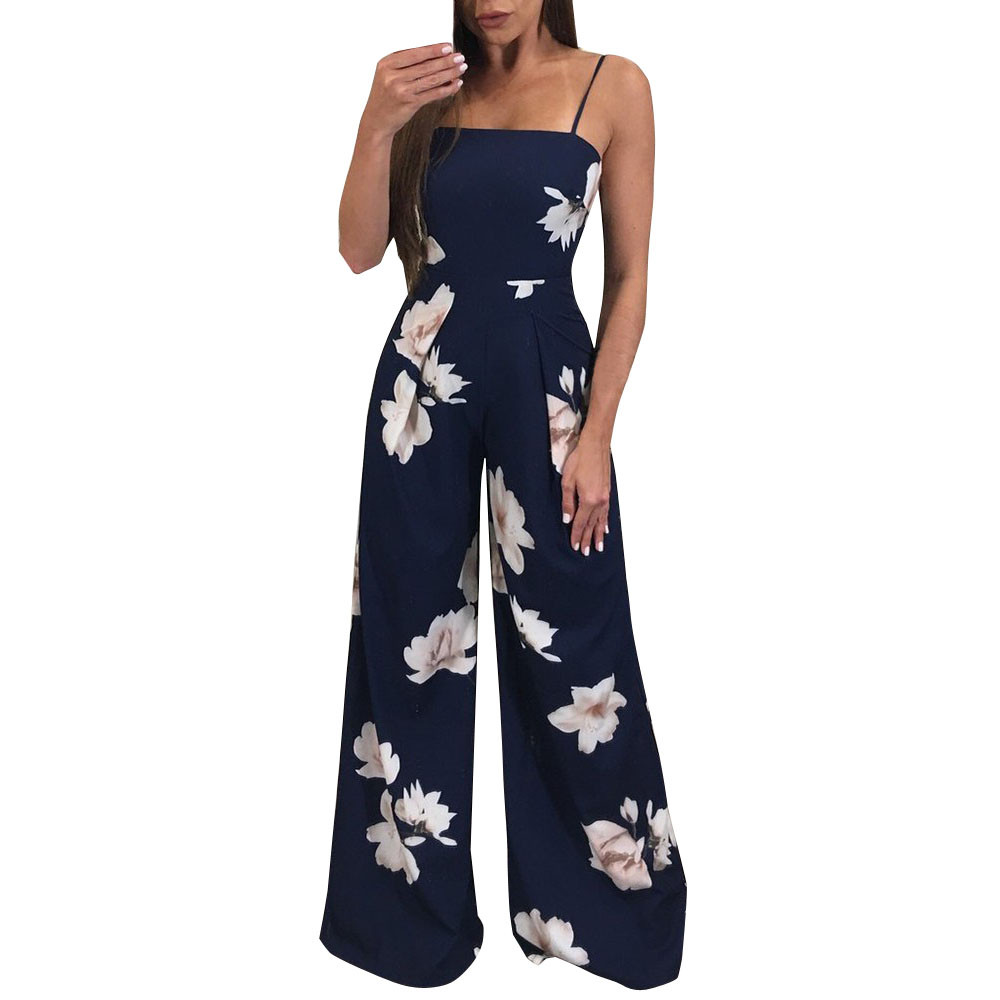 FREE OSTRICH Hot Women Ladies Clubwear Floral Playsuit Bodycon Party Jumpsuit Trousers Fashion Jumpsuit For Women 2020 New