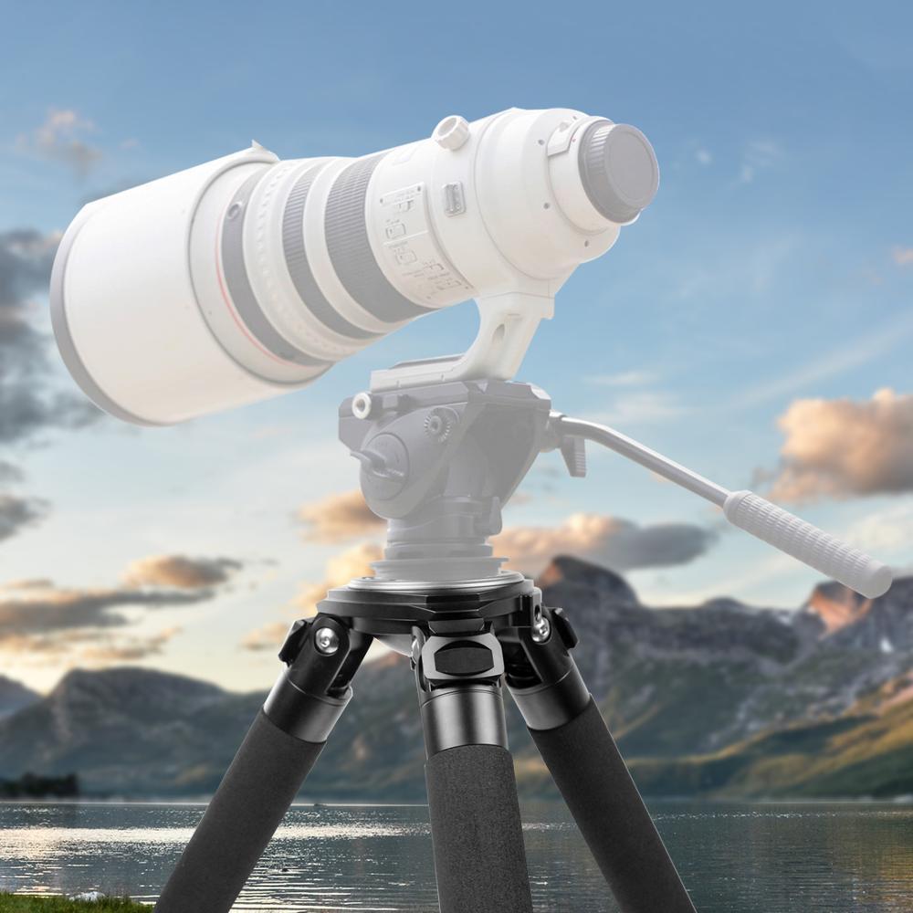 Image 5 - L404C プロのカーボンファイバー三脚なしバードウォッチング mid アクスル 40 ミリメートル大型チューブデジタルカメラ、ビデオカムコーダ用三脚   -