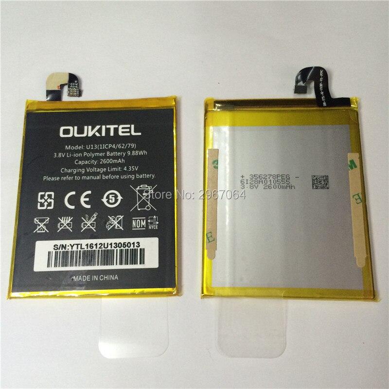 Mobile téléphone batterie OUKITEL U13 batterie 2600 mAh batterie D'origine Haute capacit Mobile Accessoires OUKITEL téléphone batterie