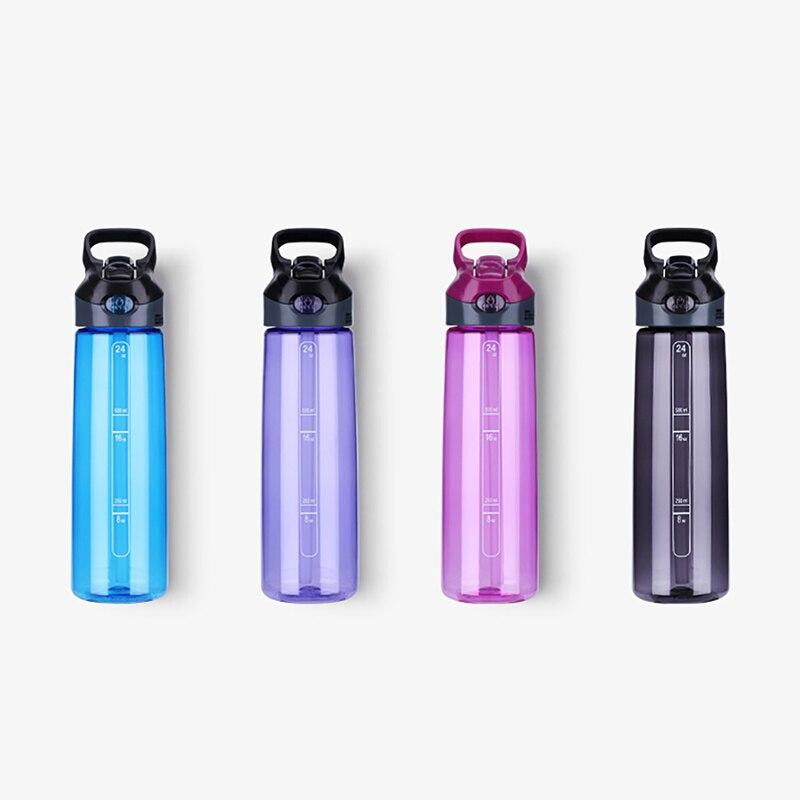 Water Bottle Sports Straw Bottles For Water <font><b>Plastic</b></font> <font><b>Transparent</b></font> <font><b>Portable</b></font> <font><b>Handle</b></font> Bike Tumbler Tritan Drinking Bottle 700ML Hot
