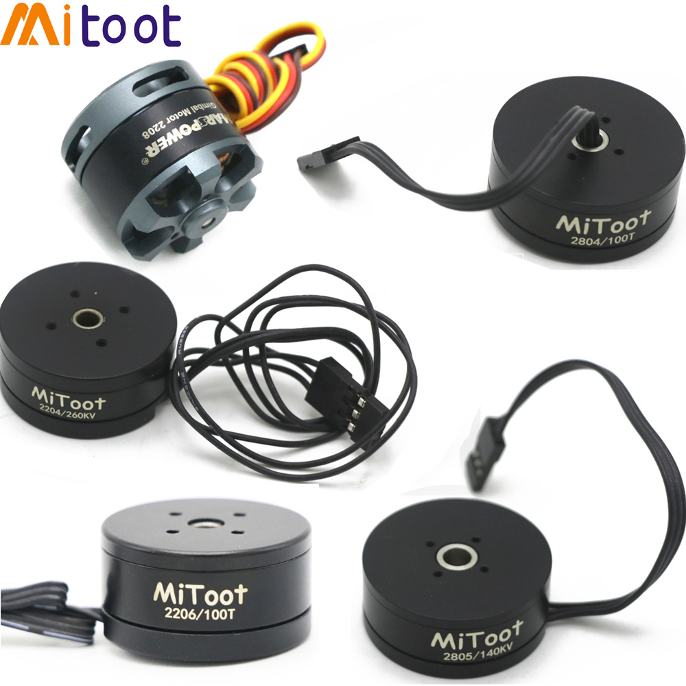 Mitoot <font><b>Brushless</b></font> Gimbal <font><b>Motor</b></font> 2208 80T/ 2204 260KV / 2804 <font><b>100KV</b></font> / 2805 140KV / 2206 100T For Gopro CNC Digital Camera Mount FPV image