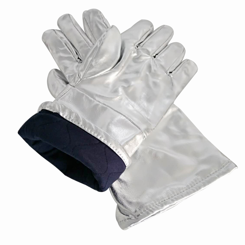 Work Gloves Heat Insulation 1000 Degree Aluminum Foil Fabric High Temperature Working Thermal Radiation Glove Fire Protection