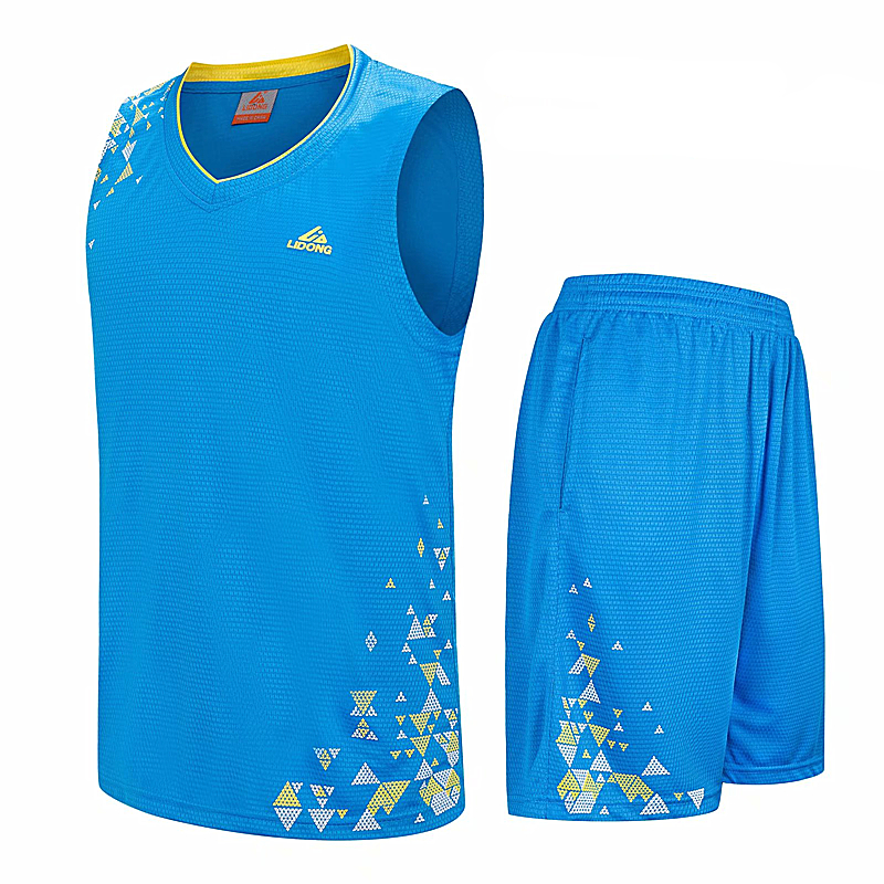 Fashion Basketball Jerseys Sets Breathable Quick Dry Sports Wear Training <font><b>suits</b></font> <font><b>Men</b></font> basketball Uniforms Jersey <font><b>Shorts</b></font> image