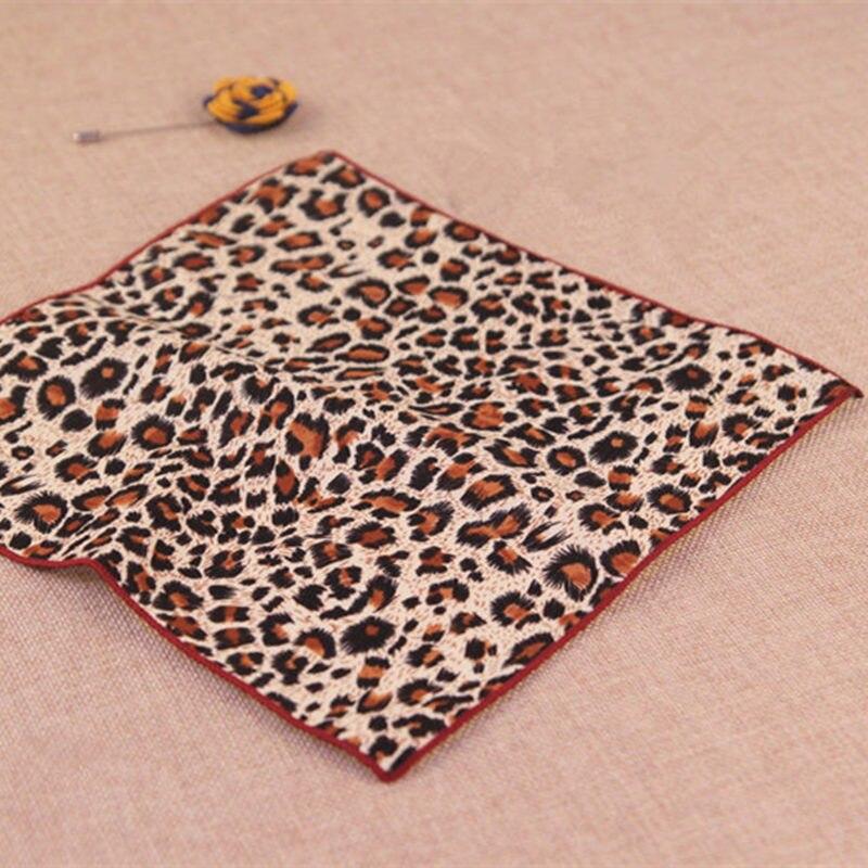 100% Cotton Handkerchiefs Leopard/Tiger Stripes Printing Pocket Square Men's Suits Magnificent Cotton Hankies Towels 24CM*24CM
