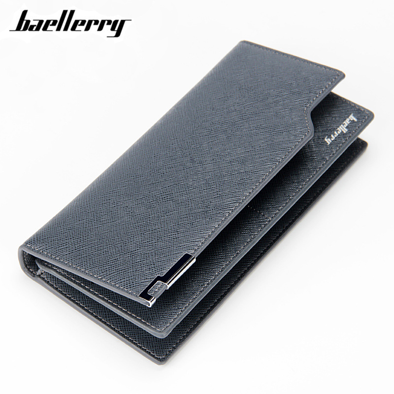 Baellerry Brand Men Wallets Male Clutch Thin Design Card Holder Long Wallet High Quality PU Leather Fashion Purse Business Bag