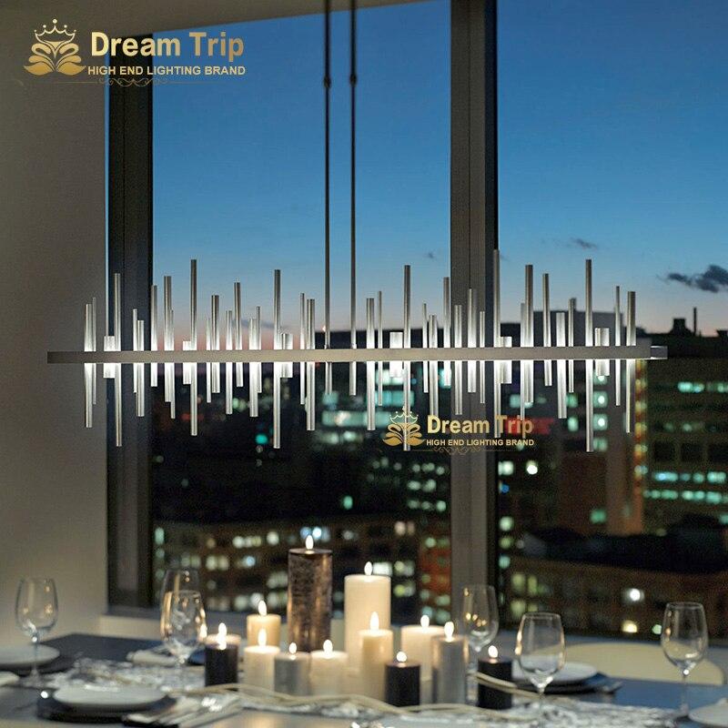 Nouvelle conception salon salle à manger led design contemporain moderne lustre lampe lumière