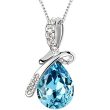 H:HYDE 10 Colors Austrian Crystal Necklace Pendants Jewellery & Jewerly 2016 Necklace Women Fashion Jewelry Wholesale(China)