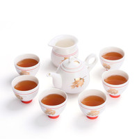 Tea sets Kung Fu teapot cups gift boxed Japanese simple family fair cup white porcelain Living room decoration