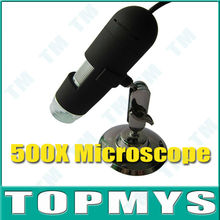 Free Shipping 25X~500X USB Digital Microscope Endoscope Magnifier Camera 8 LED Black ,2MP Magnification With Measure Software
