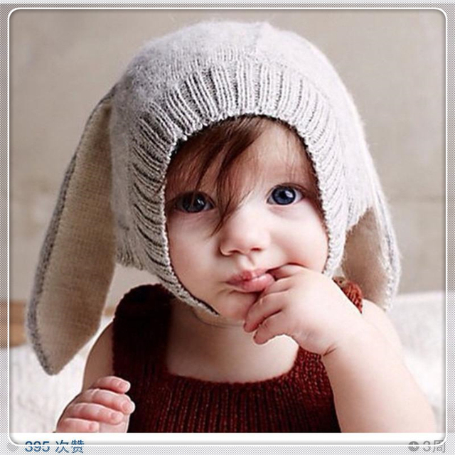 97d3fa5bf5b New Autumn Ins oeuf nyc Baby Boy d Girl s Cap Rabbit Ear Hat Knitted  Headgear Soft Warm 0-5Y