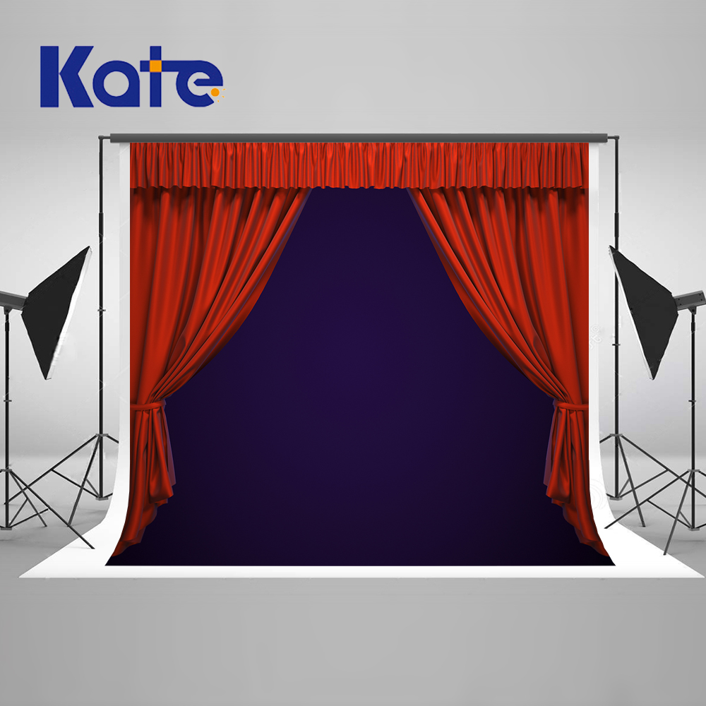 KATE Red Stage Backdrop Luxury Wedding Photography Background Red Carpet Backdrops Blue Curtain Background for Photo Studio набор для маникюра ранок шикарные ноготки