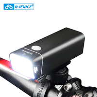 INBIKE Waterproof Bicycle Light Rechargeable Bike Led Light Cycling Flashlight With Mount Floodlight Lamp Bicycle Accessories