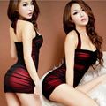 Sexy Package Buttock Stewardess Uniform Sexy Lingerie Babydoll Female Nightgown Nightclub Backless Pack Hip Temptation