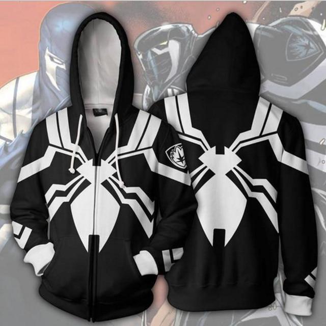 4e55f711 3D Printed SpiderMan Venom Hoodie Cosplay Venom Hooded Sweatshirt Casual  Spiderman Costume Adult Fashion Pullovers for Men Women