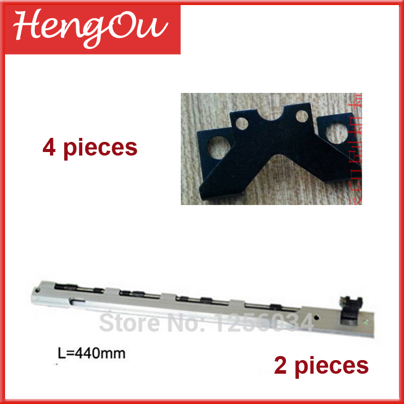 2 pieces Platen Gripper Bar windmill 13X18 Length=440, 4 pieces heidelberg block platen inv32s12s ssi320a12 rev0 6 used disassemble