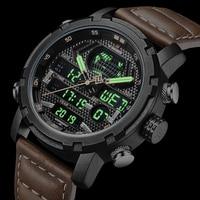 Orologio NAVIFORCE per uomo cronografo digitale di lusso orologi sportivi analogici orologio da polso militare impermeabile orologio da uomo in vera pelle