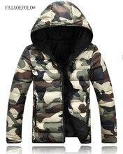 2017 Winter Warm Parkas men thicken jacket men cotton thicker Camouflage parka men Slim Fit Hood Fit Snow Cold Lovers Coat M-3XL