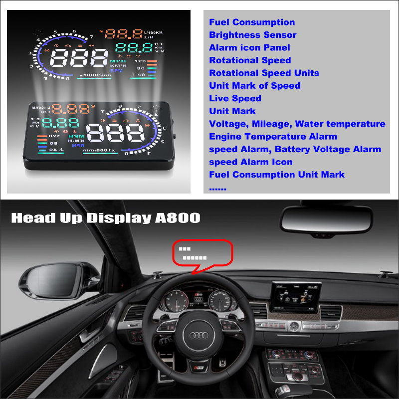 все цены на Car HUD Head Up Display For Audi A4 / A4L / S4 / RS4 2009~2014 - Safe Driving Screen Projector Inforamtion Refkecting Windshield