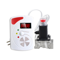 Zk25 LPG Natural Gas Leak Leak Automatic Shut Off Solenoid Valve With Voice Gas Leakage Detector