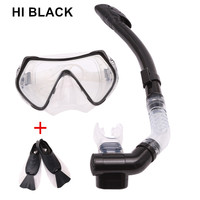 Professional Snorkels Scuba Tempered Glass Diving Mask Goggles Glasses Diving Swimming Fins Flippers Set Diving Equipment