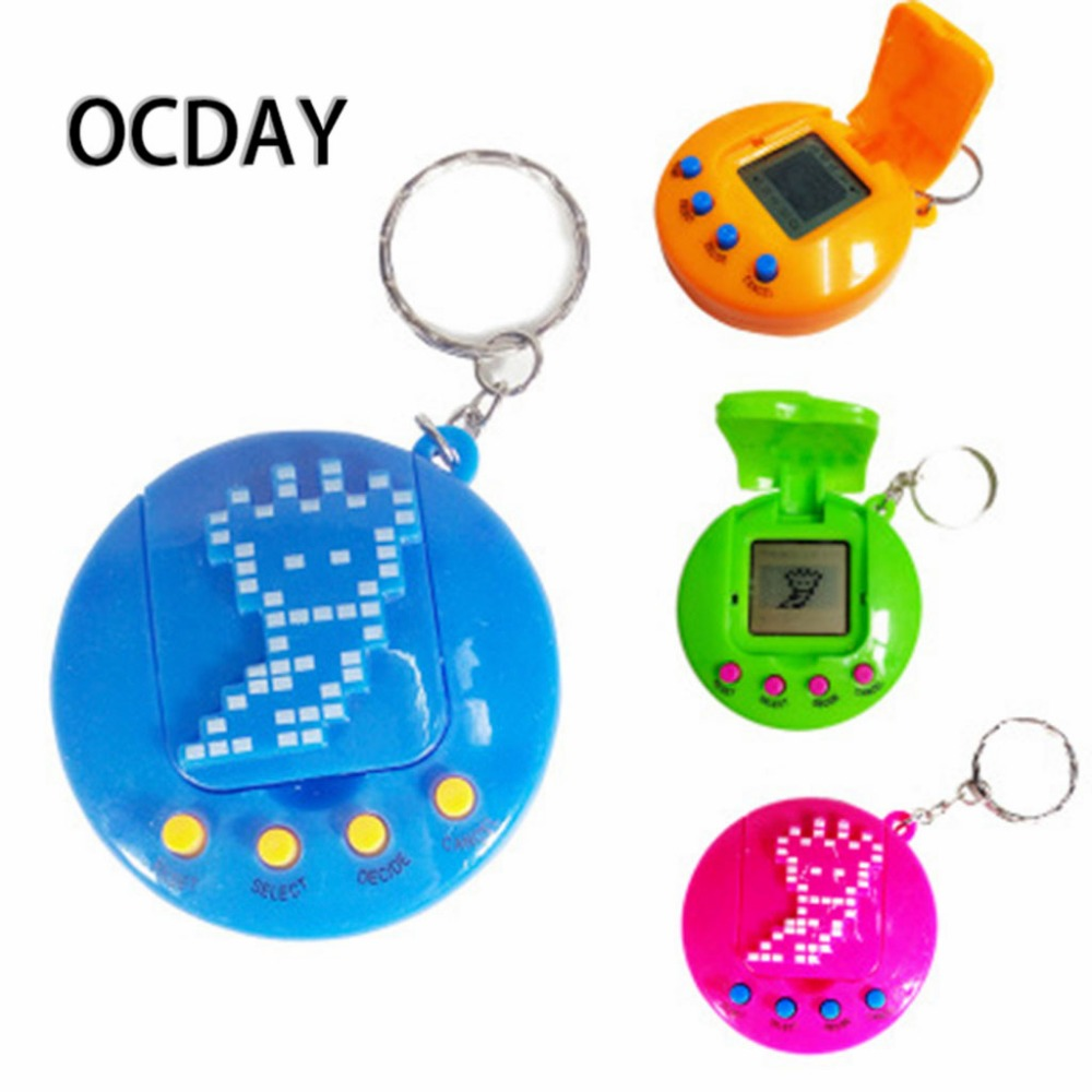 OCDAY 1PC LCD Virtual Digital Pet Electronic Game Machine Retro Funny Toy With Keychain for children gifts