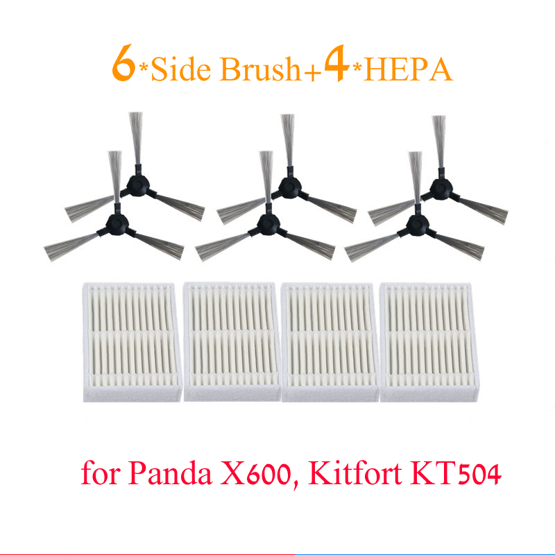 Home Appliance Parts 16 Pieces = 10* Hepa Filter 6* Side Brush For Panda X600 Pet Kitfort Kt504 Robotic Robot Vacuum Cleaner Parts In Many Styles