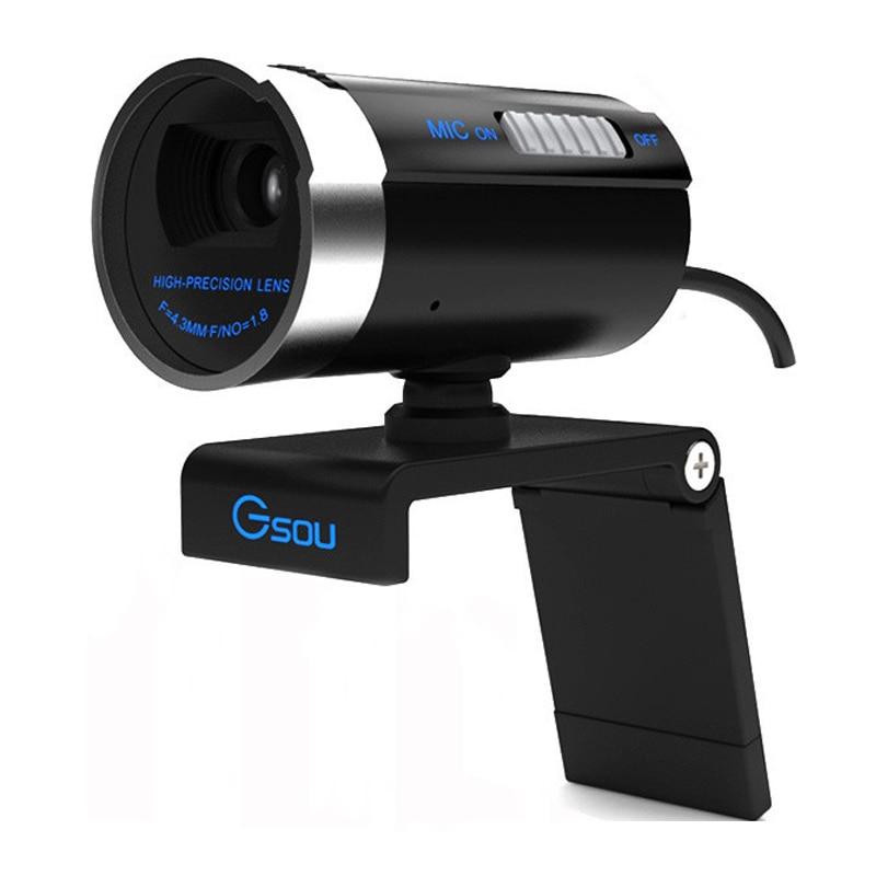 Gsou A20 1200 мегапикселей HD USB 2.0 веб-камера 1600x1200 Разрешение PC Камера веб-камера цифрового видео веб-Камера с микрофон для Skype MSN