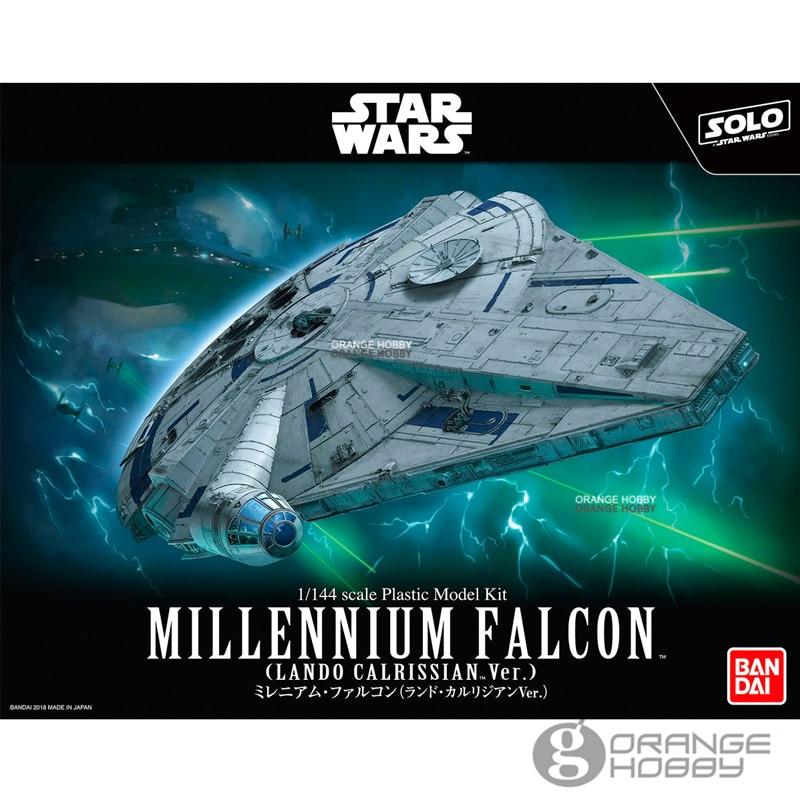 Bandai Star War Millennium Falcon LC Ver. Assembly plastic Model Kits bandai star war vm 01 vehicle model mini x wing plastic model toys figure