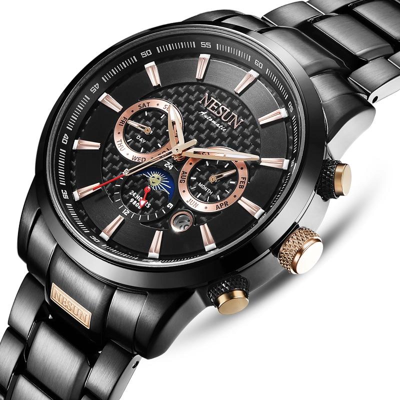 Swiss Luxury Brand NESUN Watch Multifunctional Display Automatic Self-Wind Watch