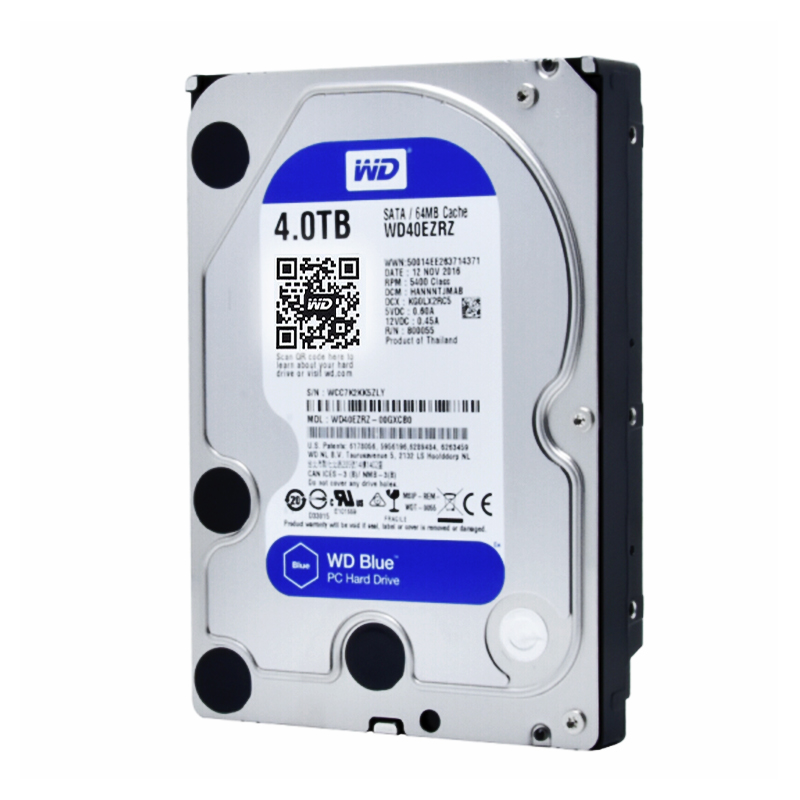 US $148 0 |Western Digital WD Blue WD40EZRZ 4TB hdd SATA 3 5 inch hard disk  drive Internal HDD desktop SATA 6GB/S 64MB Cache For compute-in External