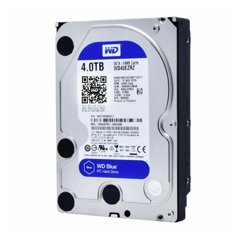 Western Digital WD Blue WD40EZRZ 4 to hdd SATA 3.5 pouces disque dur disque dur interne HDD bureau SATA 6 GB/S 64 mo Cache pour le calcul