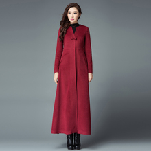 Winter Coat Women Fashion Slim 2017 Wool Coat Type Long Thick Cocoon Cashmere Woolen Cloth Coat