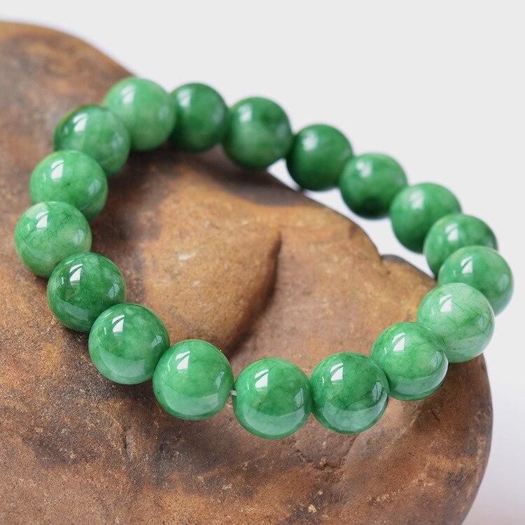 Genuine Jade Beads: Natural Burma Bracelet Genuine Fashion Bracelet Men Women