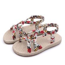 COZULMA Girls Shoes 2019 Summer Children Sandals for Roman Flower Princess Beach Flip Flops 3-12 Years Old Kid