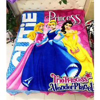 New Arrival 2018 Flannel Winnie Blanket Throw 150x200cm Three Princesses Disney Cartoon Blanket for Children on Couch/Bed/Plane