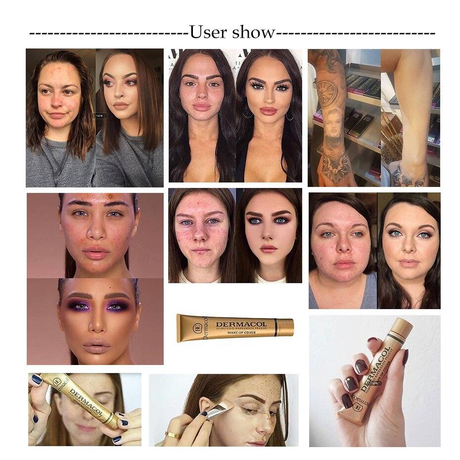 30g corretivo primer base maquiagem fundação paleta