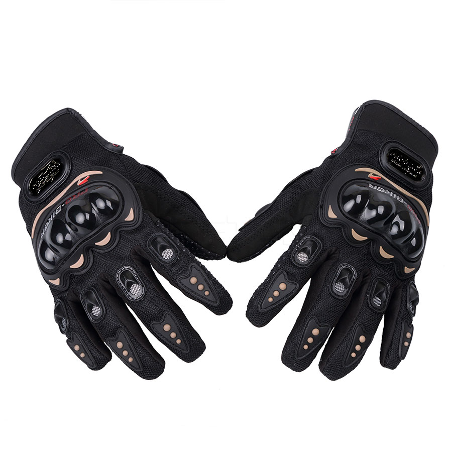 GES Men Outdoor Motorbike Waterproof Gloves Motorcycle Full Finger Touch Screen Racing Motocross Gloves XXL, Black
