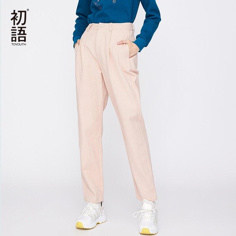 Toyouth femmes pantalons amples pantalons droits pantalons de survêtement Harajuku décontracté taille moyenne femme Pantalon Streetwear coréen 2019-in Pantalons et corsaires from Mode Femme et Accessoires    1