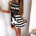 Mickey Printed Female Dress Fashion Sleeveless Slim Fitness Vestidos Ukraine Summer Beach Cute Dress Vestido De Festa Kawaii Top