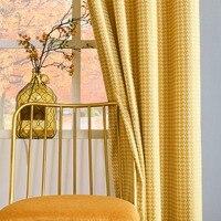 GIGIZAZA Retro Estilo Confira As Cortinas de Janela Cortinas para Sala de estar Cortinas Rosa Cinza Verde Amarelo Térmica para Quartos Personalizados