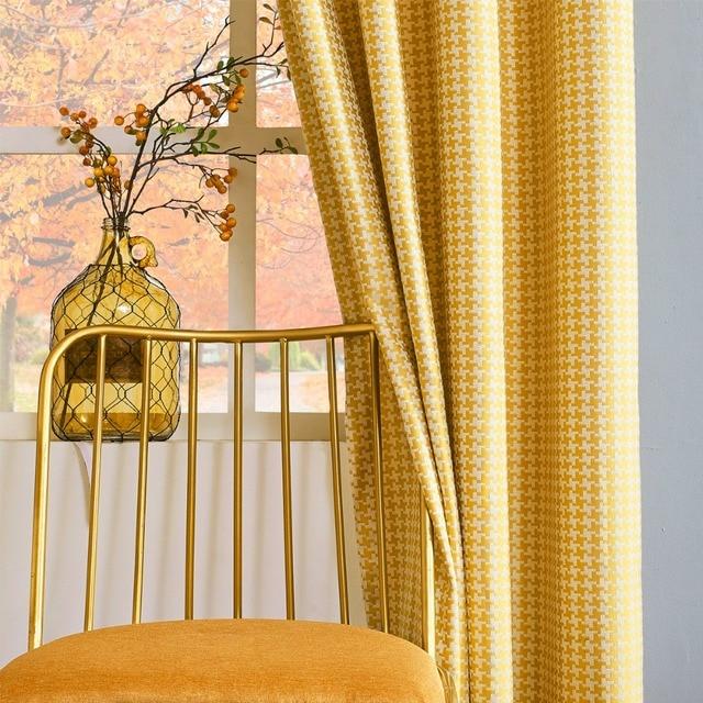gigizaza retro stijl check out jaloezien venster thermische gordijnen woonkamer roze grijs groen geel gordijnen voor
