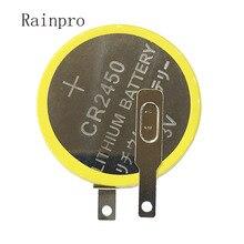 Rainpro 2 adet/grup CR2450 düğme lityum pil 3V weldding pimleri için anakart/pirinç ocak