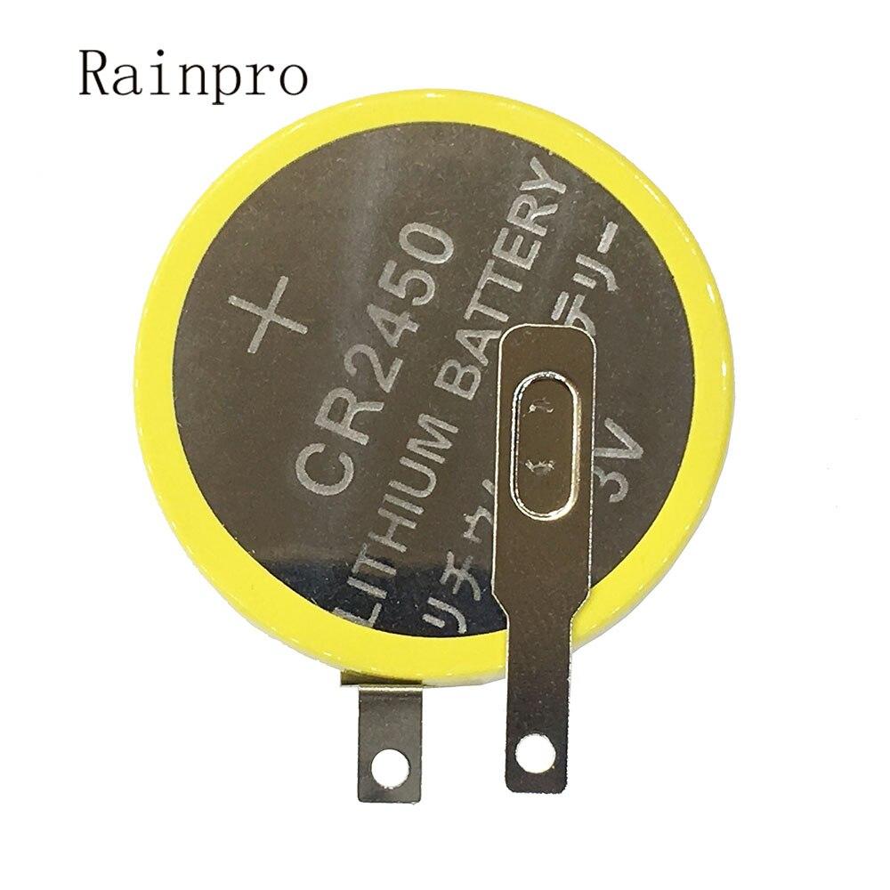 Литиевая батарея Rainpro 2 шт./лот CR2450 3 в с выдвижными штифтами для материнской платы/Рисоварки