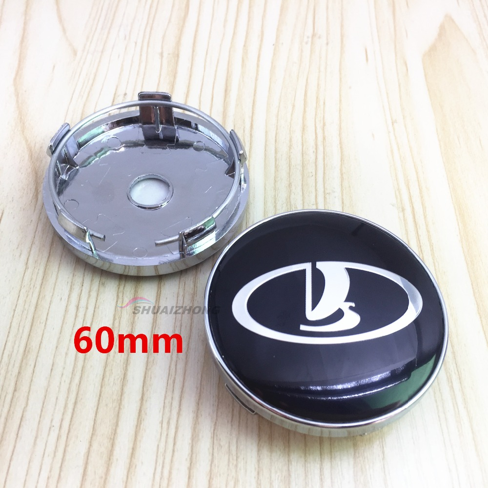 Image 3 - LADA Car Wheel Center Hub Cap Badge Sticker car wheel Dust proof covers 3d logo Decal car styling accessories 4pcs 56.5/56/60mm-in Wheel Center Caps from Automobiles & Motorcycles