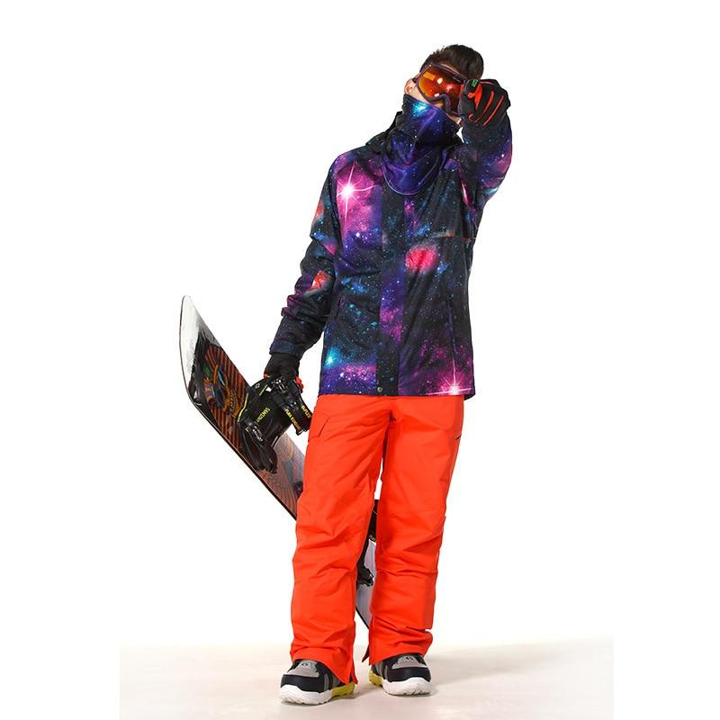 2018 Gsou snow hommes combinaison de ski planche unique veste de ski extérieur coupe-vent chaud combinaison de ski imperméable respirant veste de ski pour hommes - 6