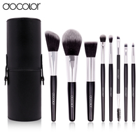 Docolor Makeup Brushing Brush Set 8 Pcs Soft Synthetic Professional Cosmetic Makeup Foundation Powder Blush Eyeliner