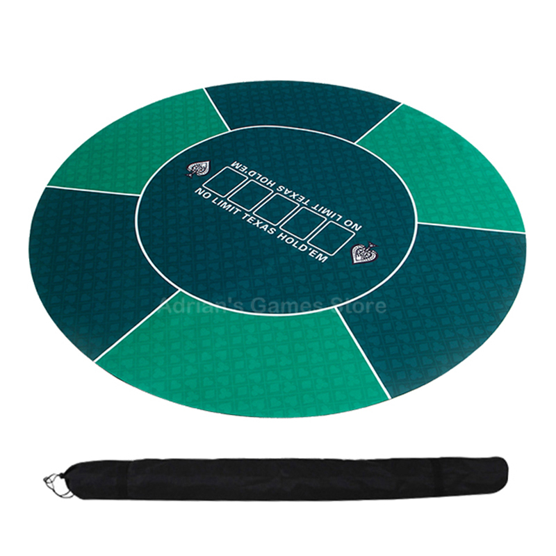 120cm Texas Hold'em Poker Table Cloth Rubber Poker Mat Round Table Mat 3mm Board Game Cloth Layouts